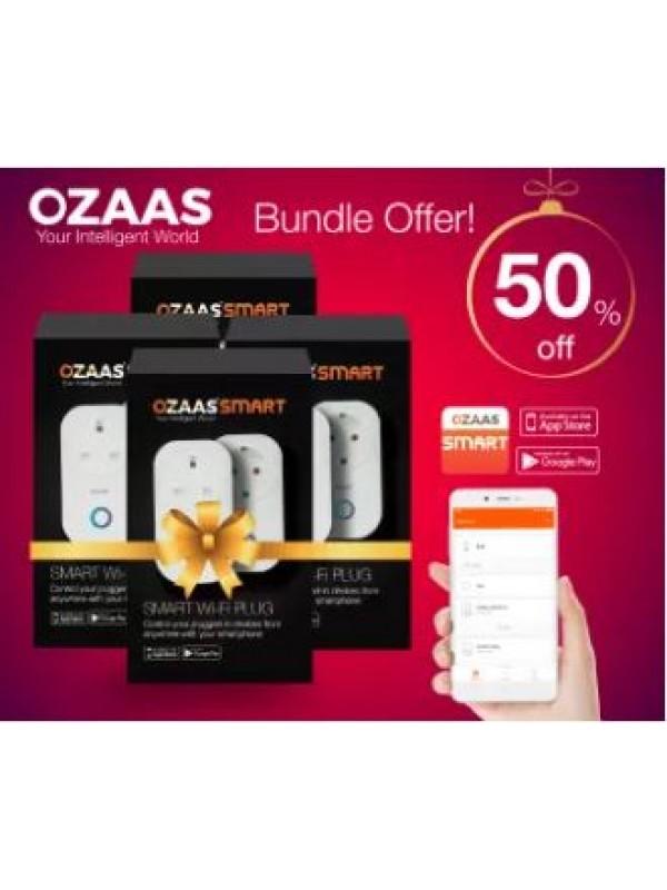 OZAAS Wi-Fi SMART Plug 4 Pack Combo, Works with Alexa