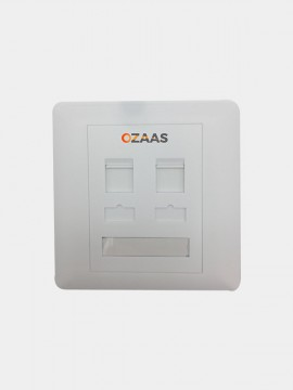 Dual Port Network Faceplate